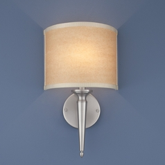 Norwell Lighting Georgetown Brush Nickel Sconce
