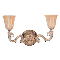 Crystorama Lighting Natural Alabaster French White Sconce