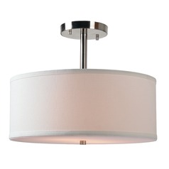 Paige Brushed Steel Semi-Flushmount Light by Kenroy Home