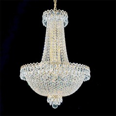 Schonbek Worldwide Lighting Camelot Polished Silver Pendant Light