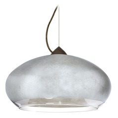 Besa Lighting Brio Bronze Pendant Light with Oblong Shade