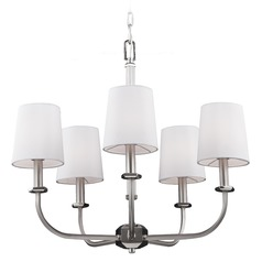 Feiss Pentagram 5-Light Chandelier in Satin Nickel