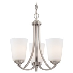 Overland Park Brushed Nickel Mini-Chandelier
