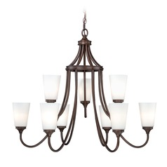 Lorimer Venetian Bronze Chandelier by Vaxcel Lighting