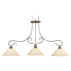 Livex Lighting Coronado Imperial Bronze Island Light with Bell Shade
