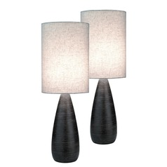 Lite Source Quatro Brushed Dark Bronze Table Lamp Set
