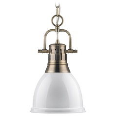 Golden Lighting Duncan Aged Brass Mini-Pendant Light