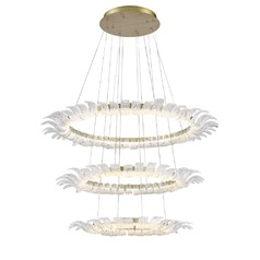 Golden Lighting Halo White Gold LED Chandelier