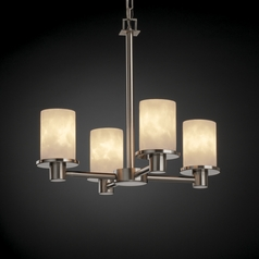 Justice Design Clouds 4-Light Mini Chandelier in Brushed Nickel