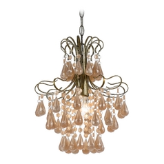 Mini-Chandelier in Soft Gold Finish