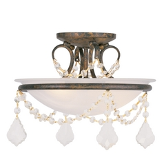 Livex Lighting Chesterfield/pennington Venetian Golden Bronze Semi-Flushmount Light