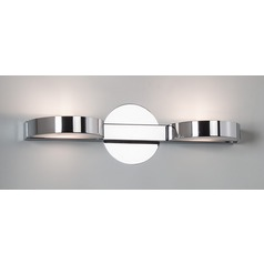 Illuminating Experiences H1418 Satin Chrome Bathroom light