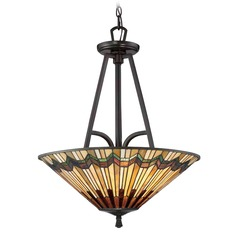 Quoizel Lighting Alcott Valiant Bronze Pendant Light with Conical Shade