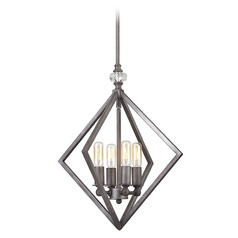 Elk Lighting Milo Weathered Zinc Pendant Light