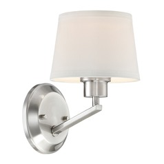 Designers Fountain Studio Satin Platinum Sconce