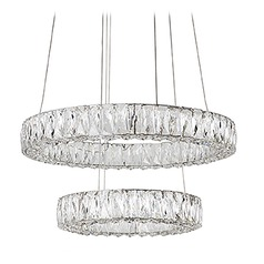 Crystal Chrome LED Chandelier with Clear Shade 4000K 2700LM