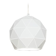 Lite Source Brushed Nickel Pendant Light with Globe Shade