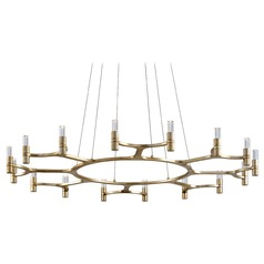 Corbett Lighting Nexus Silver Leaf LED Chandelier