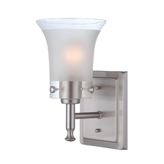 Lite Source Lighting Niccolo Polished Steel Sconce