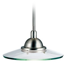 Kichler Lighting Kichler Mini-Pendant with Glass Saucer Shade 2641NI