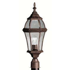 Kichler Post Light with Clear Glass in Tannery Bronze Finish