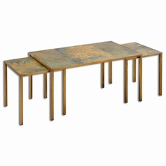 Uttermost Couper Oxidized Nesting Coffee Tables Set/3
