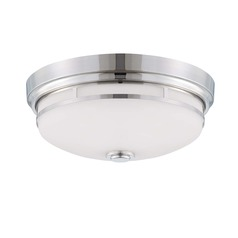 Savoy House Polished Nickel Flushmount Light