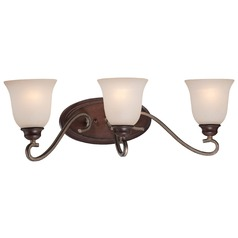 Minka Gwendolyn Place Dark Rubbed Sienna with Aged Silver Bathroom Light