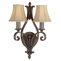 Feiss Lighting Sconce Wall Lights in Corinthian Bronze Finish WB1195CB