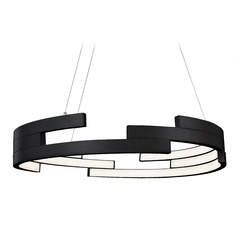 Kuzco Lighting Modern Black LED Pendant 3000K 4540LM