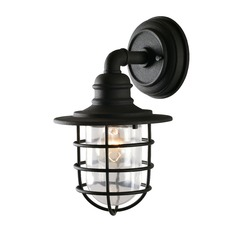 Eli Sandy Black Outdoor Wall Light by Kenroy Home