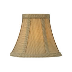 Brown Bell Lamp Shade with Clip-On Assembly