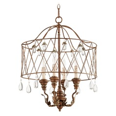 Quorum Lighting Venice Vintage Copper Pendant Light