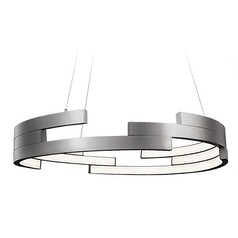 Kuzco Lighting Modern Brushed Nickel LED Pendant 3000K 4540LM