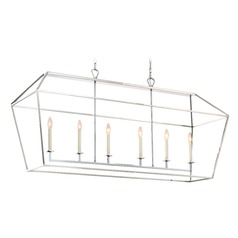 Quoizel Lighting Aviary Polished Nickel Island Light with Rectangle Shade