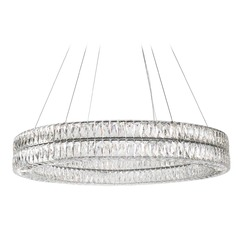 Crystal Chrome LED Chandelier with Clear Shade 4000K 5500LM