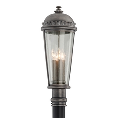 Seeded Glass Post Light Pewter Troy Lighting