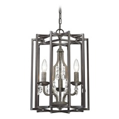 Elk Lighting Belgique Oil Rubbed Bronze, Malted Rust Pendant Light