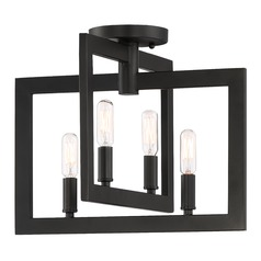 Craftmade 4-Light Espresso Semi-Flushmount Light