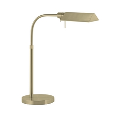 Modern Pharmacy Lamp in Satin Brass Finish