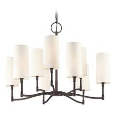 Mid-Century Modern Chandelier Bronze Dillion by Hudson Valley Lighting