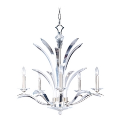 Crystal Chandelier in Plated Silver Finish