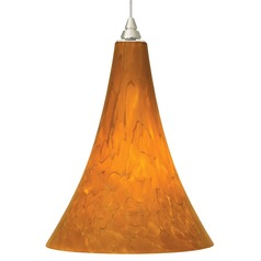 Murano Art Glass Mini-Pendant Light in Satin Nickel Finish