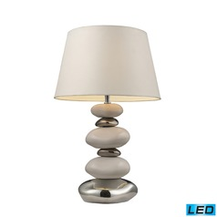 Dimond Lighting Pure White, Chrome LED Table Lamp with Empire Shade