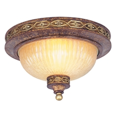 Livex Lighting Seville Palacial Bronze with Gilded Accents Flushmount Light