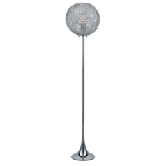 Lite Source Lighting Kolina Chrome Floor Lamp with Globe Shade