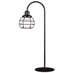 Kenroy Home Caged Oil Rubbed Bronze Table Lamp with Globe Shade