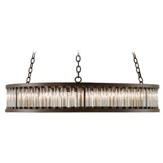Art Deco Pendant Light Bronze Elixir by Currey and Company Lighting