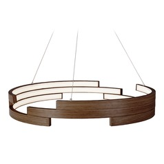 Kuzco Lighting Modern Walnut LED Pendant 3000K 4540LM