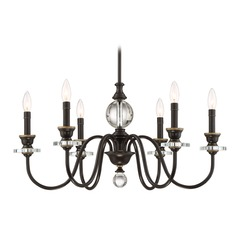 Quoizel Lighting Ceremony Palladian Bronze Chandelier